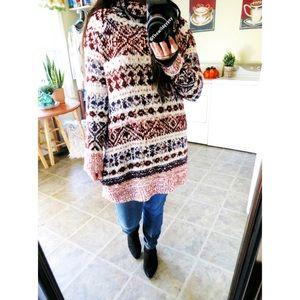 Free People chunky knit tunic sweater 🌿